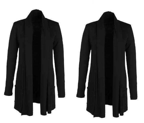 b40d9136db Cardigan Blazer Feminino Comprido Longo Casaco Grosso - R  64
