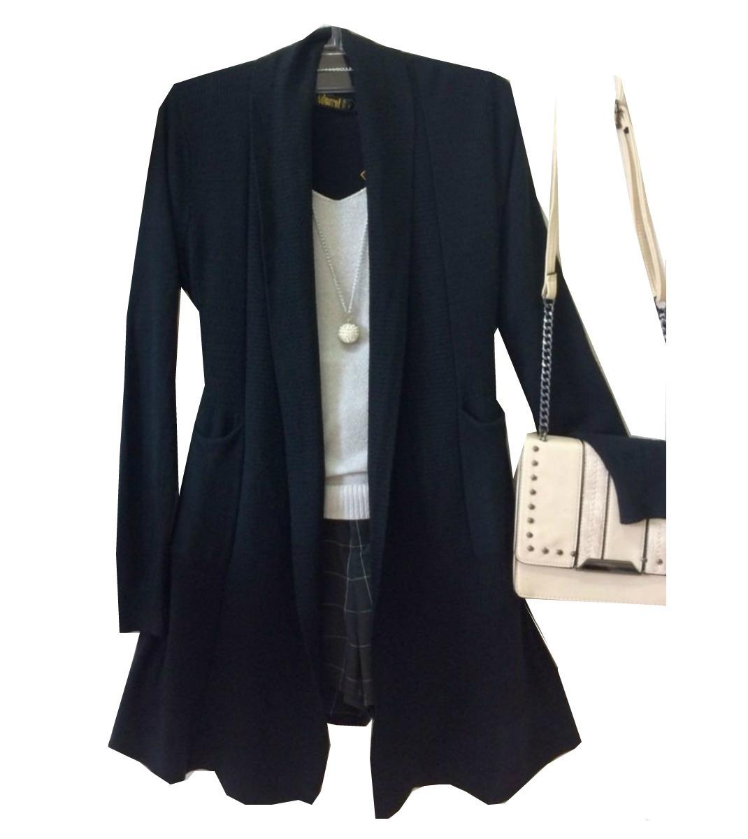 7213994934 cardigan blazer feminino comprido longo casaco grosso. Carregando zoom.