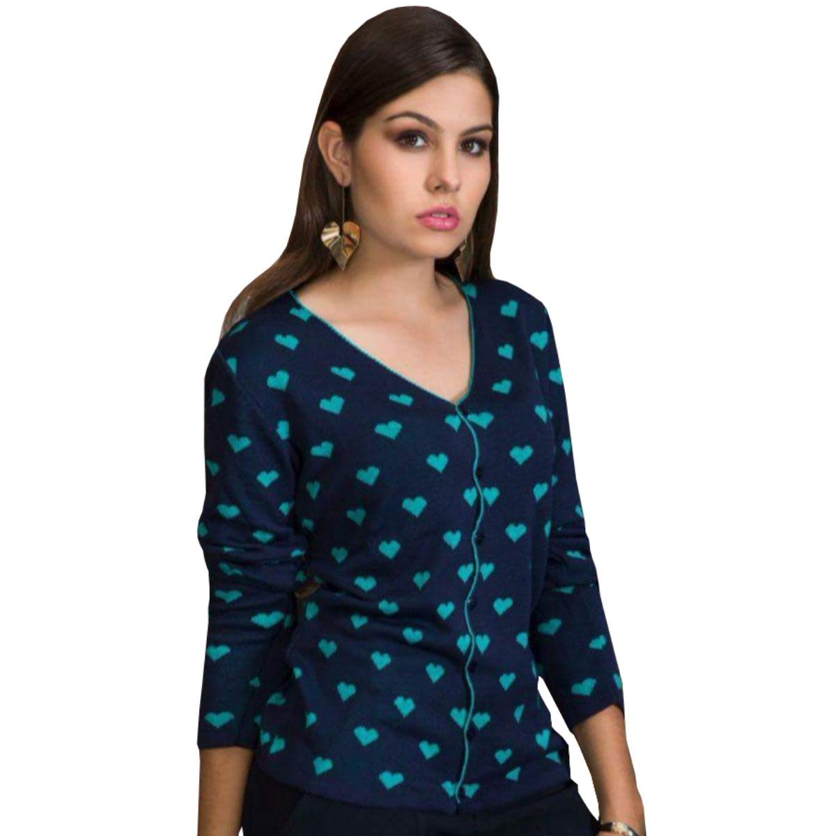 6d4296003 cardigan de lã feminino blusa de tricot trico inverno 2019. Carregando zoom.