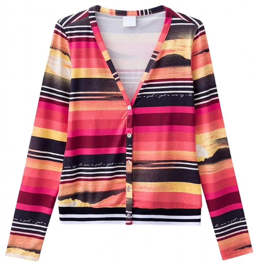 5099478538d0 Cardigan Enfim Feminino Estampado - R$ 129,90 em Mercado Livre