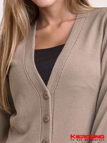 cárdigan escote v mujer con botones sweater saco kierouno