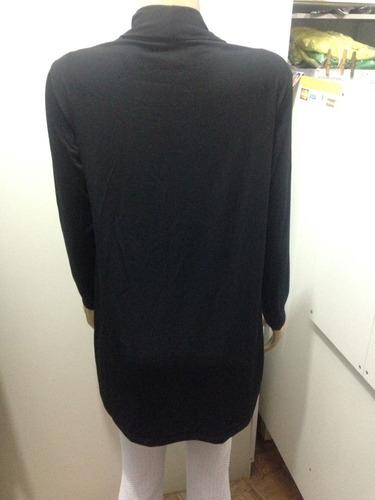 cardigan feminino de manga longa básico assimétrico
