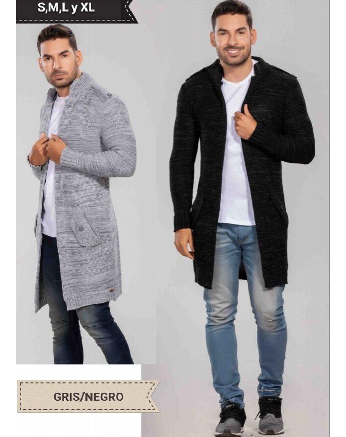 nuevo concepto e9d19 9a55c Cardigan Para Hombre, Gaban, Saco Largo Para Caballero Moda