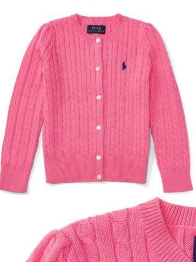 e46e7bda526b7 Cardigan Ralph Lauren Infantil 4 Anos - Original - R  159