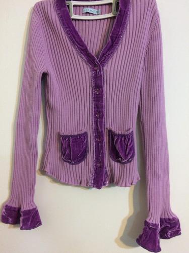 cardigan saquito sweater  lana terciopelo 12 años ropaniña00