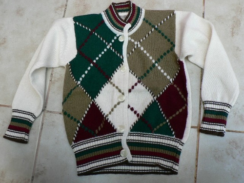 cardigan saquito sweater niña 6 años angora importado