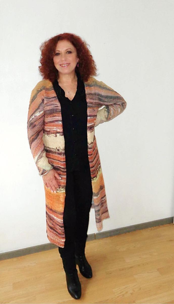 e9cf937e26dcb cardigan spolverino largo de lana mujer sublimado. Cargando zoom.