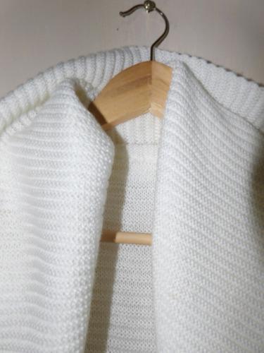 cardigan tejido blanco muy buen estado