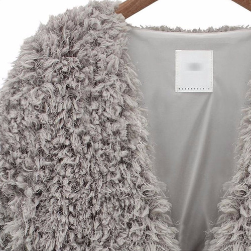 cardigans jackets mujer winter long sleeve fluffy faux fur