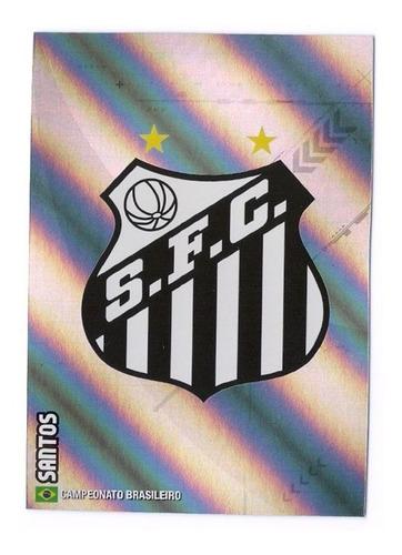 cards adrenalyn brasileiro 2014 - escudo santos