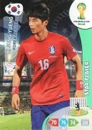 cards adrenalyn copa 2014*** ki sung yueng ** star player
