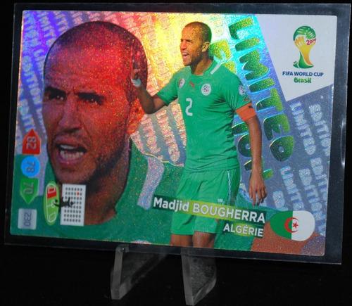cards - adrenalyn copa 2014 - limited edition - bougherra
