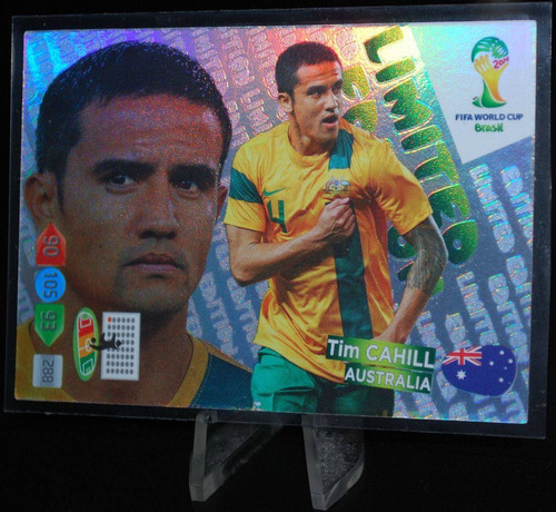 cards - adrenalyn copa 2014 - limited edition - tim cahill