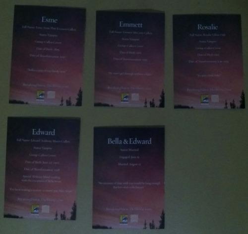 cards amanhecer parte 1 - exclusivo sdcc 2011