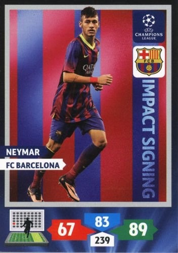 cards champions league 2013/14 impact signing neymar