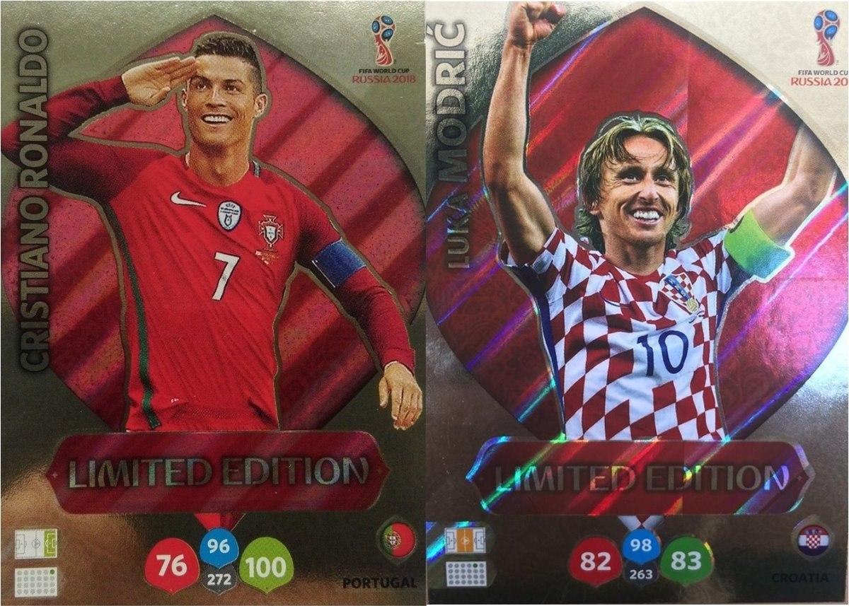 1112495d6f57 cards copa 2018 adrenalyn limited edition cr7 + modric. Carregando zoom.