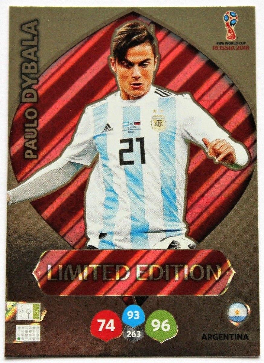 7c703532056f cards copa 2018 adrenalyn limited edition dybala argentina. Carregando zoom.