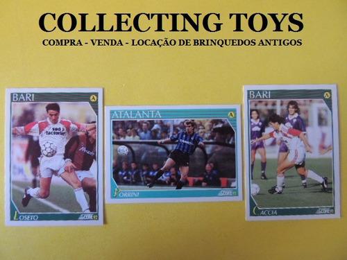 cards de futebol italiano- loseto- porrini- caccia - (j 107)