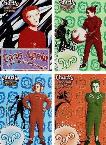 cards especiais - charlie & the chocolate factory - foil set