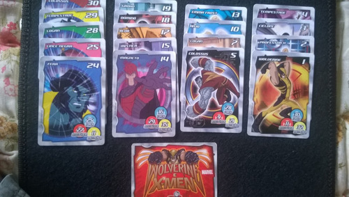 cards figurinhas tazo wolverine e x-men elma chips