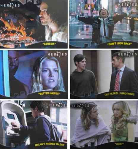 cards - heroes (tv) season 1 - coleção completa