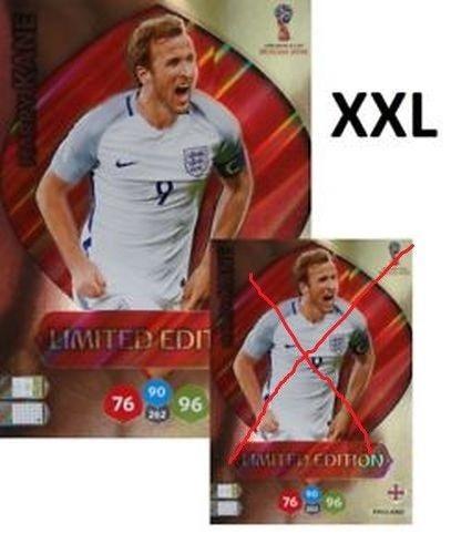 cards limited xxl da copa de 2018