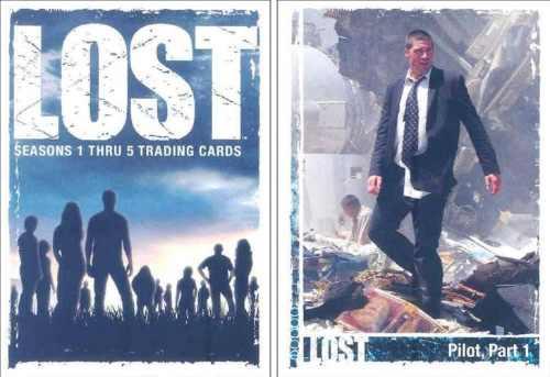 cards - lost seasons 1-5 - coleção completa