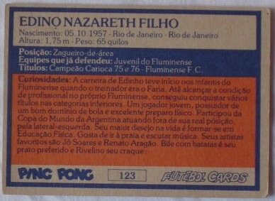 cards - ping pong - edinho - fluminense f.c.