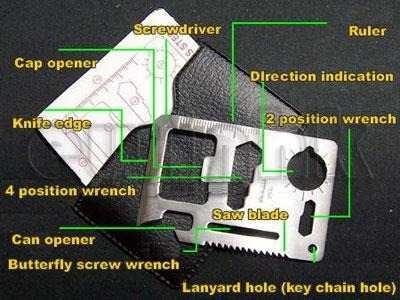 cardsharp tarjeta .navaja portatil  defensa cuchillo pesca