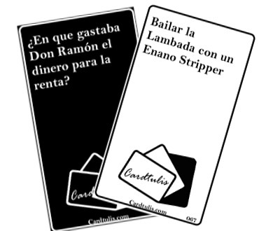 cardtulis - el cards against humanity argento
