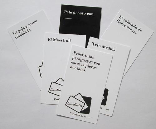 cardtulis - juego de cartas para adultos