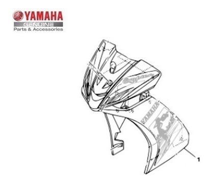 carenagem crypton frontal vermelha 2010 original moto yamaha