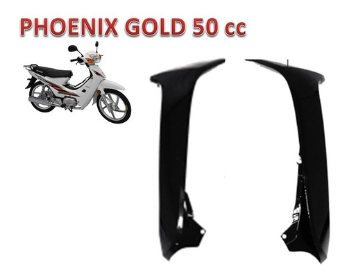carenagem externa par preta da phoenix gold shineray