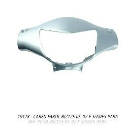 carenagem farol biz125 2005-2007 prata s/adesivo