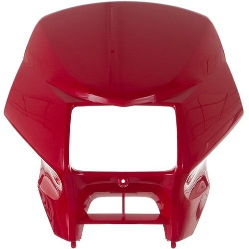 carenagem farol nxr125 2005 vermelho tk