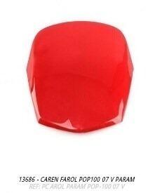 carenagem farol pop100 2007 vermelho s-adesivo