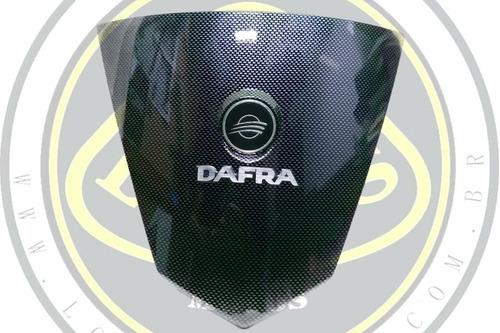 carenagem frontal emblema carbono dafra citycom 300 50403