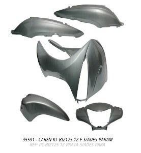 carenagem kit biz125 2012 prata