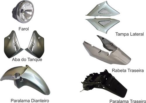 carenagem kit completo cbx 250 twister prata (chumbo) 2008