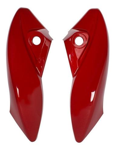 carenagem lateral do farol honda cb300r vermelho 2009 a 2012