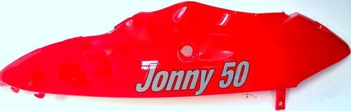 carenagem lateral tras. esquerda scooter jonny 50 vermelha