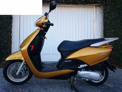 carenagem lead 110 dourada 2010 - original honda