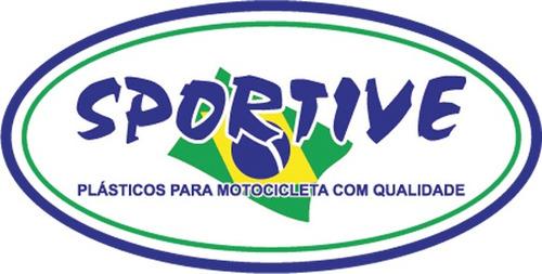 carenagem traseira fazer 250 cc preto metálico 2006 a 2010