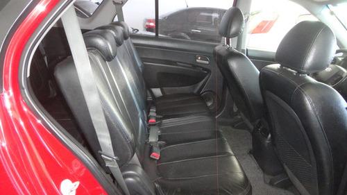 carens ex 2.0 aut 2009 completa, 7 lugares, couro, placa a