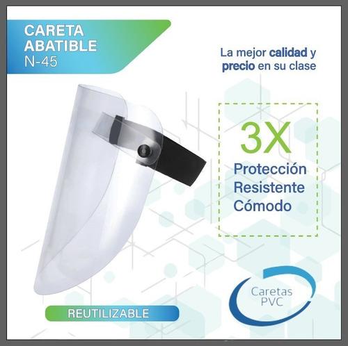 careta abatible reutilizable + cubrebocas kn95 gratis