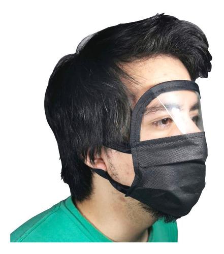 careta con cubreboca lote 20 psz triple plisado visor facial