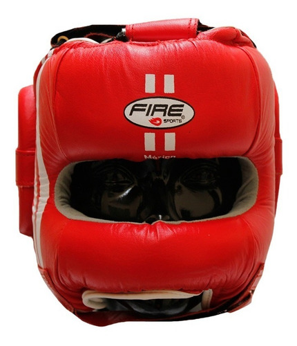 careta de barra fire sports protector cabeza box piel boxeo