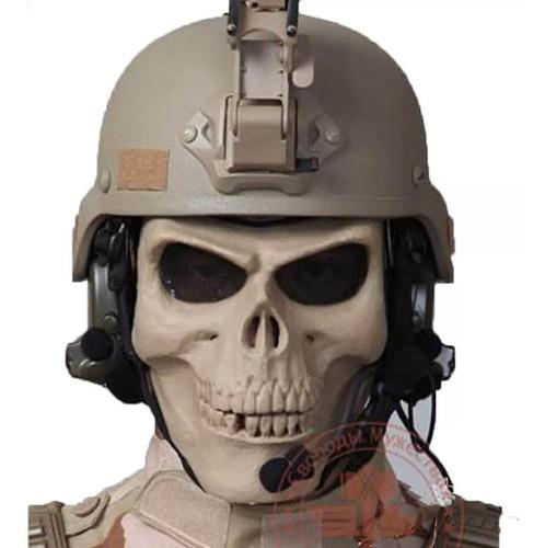 careta de gotcha militar mercenario calavera, mascara