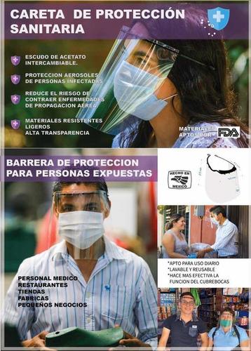careta de protección sanitaria
