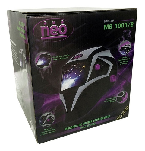 careta de soldar máscara fotosensible industrial neo 1001/2